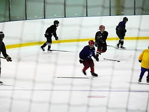 Hockey skating drills practices